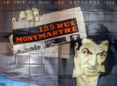 125 rue Montmartre (Pathé, 1959). France 320 x 240.