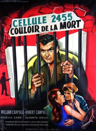 Cellule 2455 couloir de la mort (Columbia, 1955). France 120 x 160.
