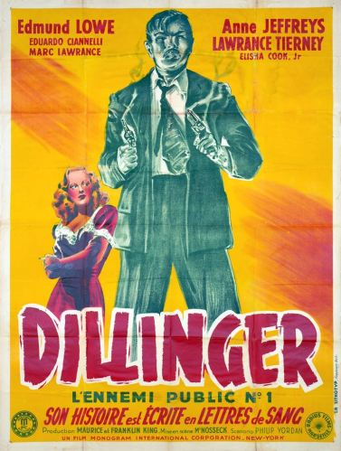 Dillinger (Radius, 1945). France 120 x 160 Mod C.