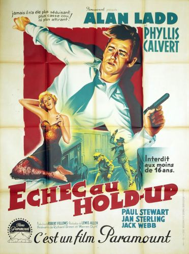Échec au hold-up (Paramount, 1951). France 120 x 160.