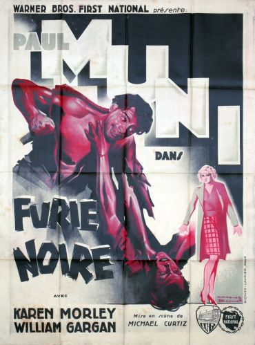Furie noire (Warner Bros, 1935). France 120 x 160 Mod A.