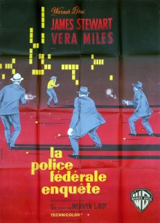 La police fédérale enquête (Warner Bros, 1960). France 120 x 160. ©collection Jérôme Rouault