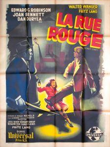 La rue rouge (Universal, 1947). France 120 x 160 Mod B. ©collection Jérôme Rouault