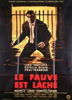 Le fauve est lâché (Gaumont, 1959). France 120 x 160 Mod B. ©collection Jérôme Rouault