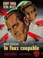 Le faux coupable (Warner Bros, 1957). France 120 x 160. ©collection Jérôme Rouault