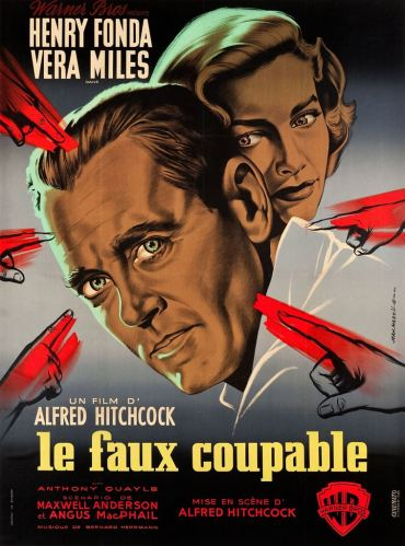 Le faux coupable (Warner Bros, 1956). France 120 x 160.