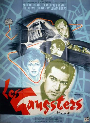 Les gangsters (Rank, 1961). France 120 x 160.