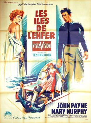 Les îles de l'enfer (Paramount, 1956). France 120 x 160.