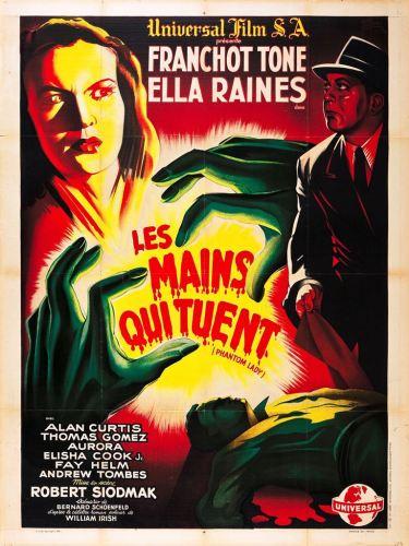 Les mains qui tuent (Universal, 1944). France 120 x 160.