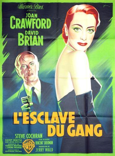 L'esclave du gang (Warner Bros, 1950). France 120 x 160.