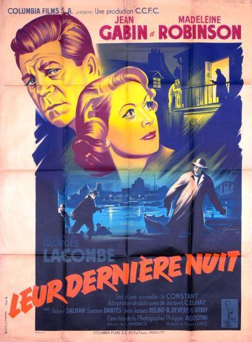 Leur dernière nuit (Columbia, 1953). France 120 x 160 Mod B.