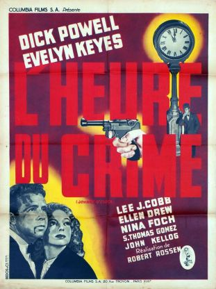 L'heure du crime (Columbia, 1947). France 60 x 80.