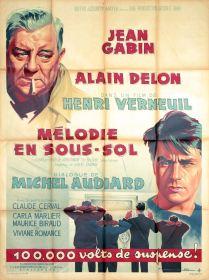 Mélodie en sous-sol (MGM, 1963). France 120 x 160. ©collection Jérôme Rouault