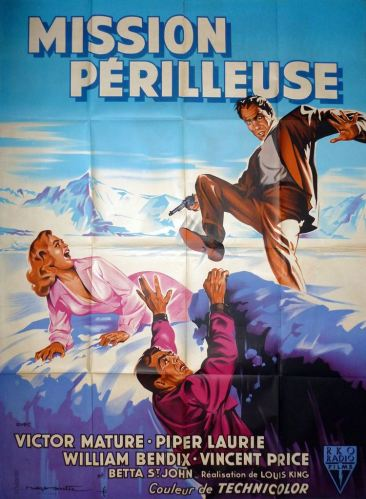 Mission périlleuse (RKO, 1954). France 120 x 160.
