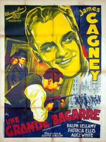 Une grande bagarre (Warner Bros, 1937). France 120 x 160 Mod A. ©collection Jérôme Rouault