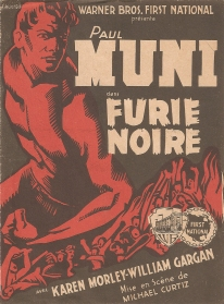 Furie noire (Warner Bros. First National, 1935). France tract.