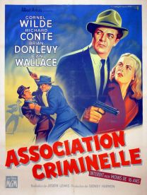 Association criminelle (MGM, 1956). France 120 x 160.