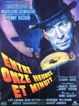 Entre onze heures et minuit (Francinex, 1948), France 120 x 160 Mod B.