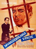 Invraisemblable vérité (RKO, 1957). France 120 x 160.