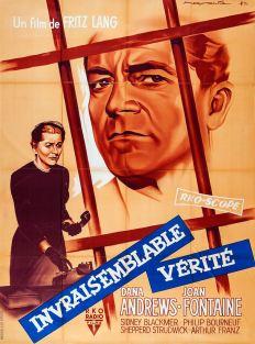 Invraisemblable vérité (RKO, 1957). France 120 x 160. ©collection Jérôme Rouault