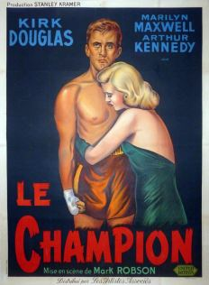 Le champion (Artistes Associés, 1949). France 120 x 160. ©collection Jérôme Rouault