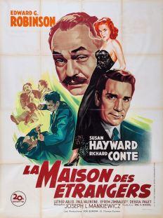 La maison des étrangers (20th Century Fox, 1949). France 120 x 160. ©collection Jérôme Rouault