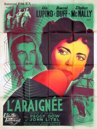 L'araignée (universal, 1949). France 120 x 160.