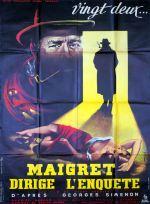 Maigret dirige l'enquête (Pathé, 1956). France 120 x 160.