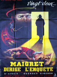 Maigret dirige l'enquête (Pathé, 1956). France 120 x 160. ©collection Jérôme Rouault