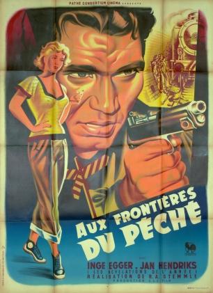 Aux frontières du péché (Pathé, 1952). France 120 x 160.