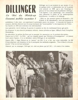 Dillinger (SNA, 1947). France scénario.
