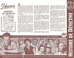 Histoire de détective (Paramount, 1952). France DP.