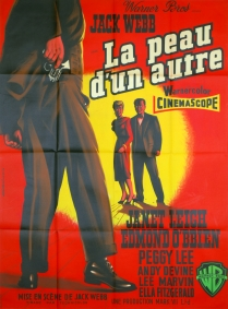 La peau d'un autre (Warner Bros, 1956). France 120 x 160. ©collection Jérôme Rouault