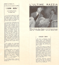 L'ultime razzia (RKO, 1956). France DP.
