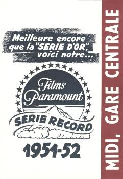 Midi, gare centrale (Paramount, 1951). France DP.