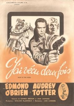 J'ai vécu deux fois (Columbia, 1953). France DP.