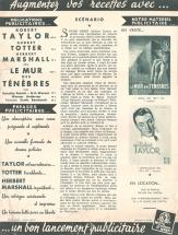 Le mur des tenebres (MGM, 1949). France DP. ©collection Jérôme Rouault