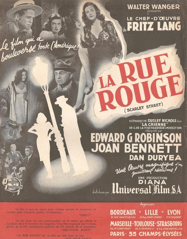 La rue rouge (Universal, 1947). France publicité.