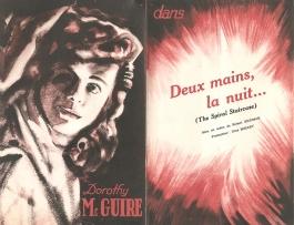 Deux mains, la nuit…(RKO, 1947). France DP.