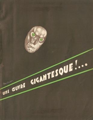 Le testament du docteur Mabuse (Osso, 1933). France publicité.