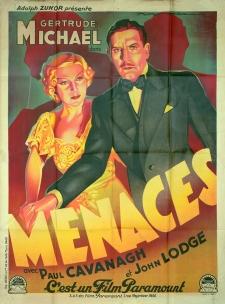 Menaces (Paramount, 1935). France 120 x 160. ©collection Jérôme Rouault