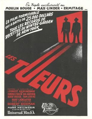 Les tueurs (Universal, 1947). France publicité.
