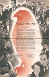 Le faucon Maltais (Warner Bros, 1945). France DP. ©collection Jérôme Rouault