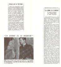 La femme et le rôdeur (RKO, 1957). France DP. ©collection Jérôme Rouault