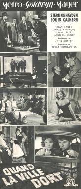 Quand la ville dort (MGM, 1950). France DP. ©collection Jérôme Rouault