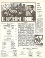 Le quatrième homme (Artistes Associés, 1953). France DP.