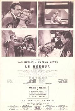 Le rôdeur (Artistes Associés, 1952). France DP. ©collection Jérôme Rouault