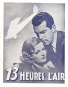 13 heures dans l'air (Paramount, 1936). France DP. ©collection Jérôme Rouault