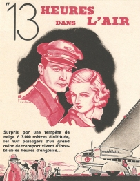 13 heures dans l'air (Paramount, 1936). France tract.
