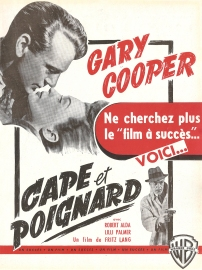 Cape et poignard (Warner Bros, 1948). France publicité. ©collection Jérôme Rouault